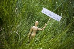 snijd het gras Stock Foto