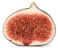 Snijd het midden van fig. met zaden stock afbeeldingen