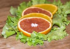 Snijd Sinaasappel Royalty-vrije Stock Afbeeldingen