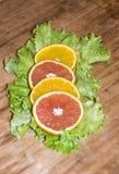 Snijd Sinaasappel Royalty-vrije Stock Foto's