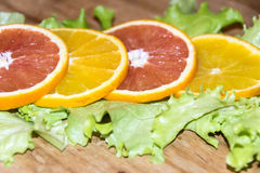 Snijd Sinaasappel Royalty-vrije Stock Afbeelding
