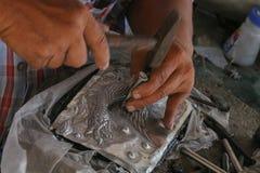 Snijd tafelzilver, Chiang Mai, Thailand stock afbeeldingen