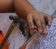 Snijd tafelzilver, Chiang Mai, Thailand royalty-vrije stock afbeelding