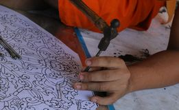 Snijd tafelzilver, Chiang Mai, Thailand royalty-vrije stock afbeeldingen