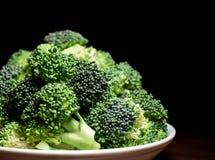 Snijd vers groene broccoli royalty-vrije stock foto's