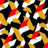 Snijdend Abstract Vormen Naadloos Patroon Stock Afbeelding