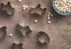 Snijder van de koekjes diverse vorm royalty-vrije stock afbeeldingen