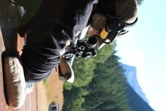 Sniper aiming at target