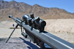 Sniper Barrett rifle , 0.50 caliber, m82a1 royalty free stock images