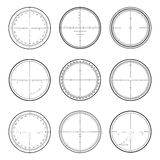 Sniper  crosshairs set Royalty Free Stock Photos