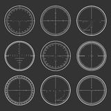 Sniper  crosshairs set Stock Photography