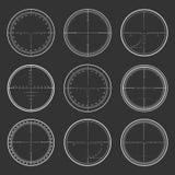 Sniper  crosshairs set Stock Photography