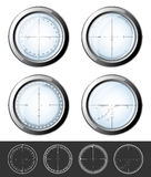Sniper  crosshairs set Stock Image