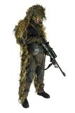 Sniper in ghillie suit Stock Photography