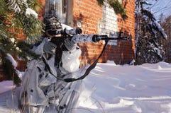 Sniper girl Stock Image