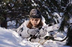 Sniper girl Stock Photos