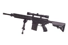 Sniper rifle with bipod Royalty Free Stock Photos