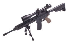 Sniper rifle with bipod Royalty Free Stock Photo