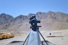 Sniper rifle Barrett 0.50 caliber m81a1. Sniper rifle close up ,  Barrett 0.50 caliber m81a1 in a shooting range near Las Vegas, training purpose Royalty Free Stock Image