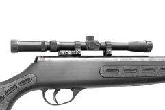 Sniper rifle isolated Stock Image