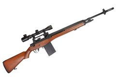 Sniper rifle M14 Stock Photo