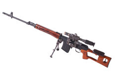 Sniper rifle with optic sight Royalty Free Stock Photography