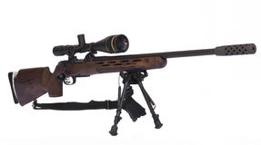 Sniper Rifle Side Stock Photo
