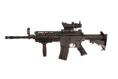 Sniper rifle telescope stock photo