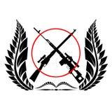 Sniper rifles vector illustration