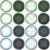 Sniper Scope Target Colorful Set Stock Photography