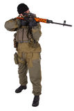 Sniper with SVD sniper rifle Royalty Free Stock Image