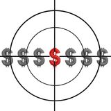 Sniper target and dollar sign Royalty Free Stock Photography