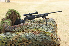 The sniper and training for Royalty Free Stock Images