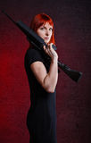 Sniper Woman Stock Images