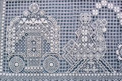 A snippet of lace pattern Royalty Free Stock Photos