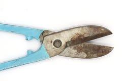 Snips antyka, starzy snips, odizolowywający na czarnym tle obrazy stock