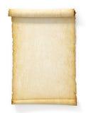 Snirkel av gammalt gulnat papper Arkivfoto