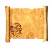 Snirkel av gammalt pergament Arkivbild