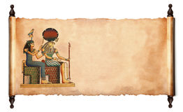 Snirkel med den egyptiska papyrusen Arkivbilder