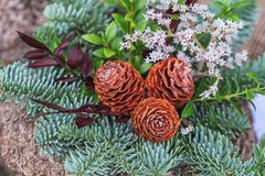 Snitch and wreaths from flowers, All Saints Day concept. Snitch and wreaths from flowers, All Saints Day concept Royalty Free Stock Photos