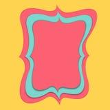 Pappers- snitt för rosa baner Royaltyfria Foton