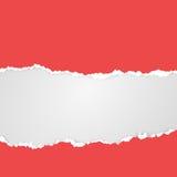 Snitt och sönderrivet papper med stället för text Färgrik vektormall Arkivbild