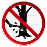 snittet undertecknar inte treen Fotografering för Bildbyråer