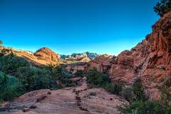 Snökanjondelstatspark - Ivins - Utah Royaltyfri Bild