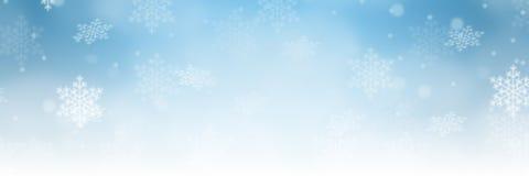 Sno украшения картины зимы границы знамени предпосылки рождества бесплатная иллюстрация