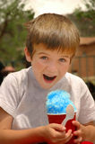 Sno Cone. Young Boy getting ready to eat Sno Cone Stock Images