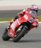 Snocciolatore 2009 di Ducati Marlboro Yamaha MotoGP Casey Immagini Stock Libere da Diritti