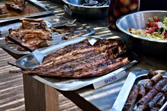 Snoek fish grilled Royalty Free Stock Image