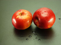 Snoepje en appelen stock foto