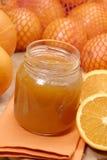Snoepje en sinaasappel. Royalty-vrije Stock Afbeelding